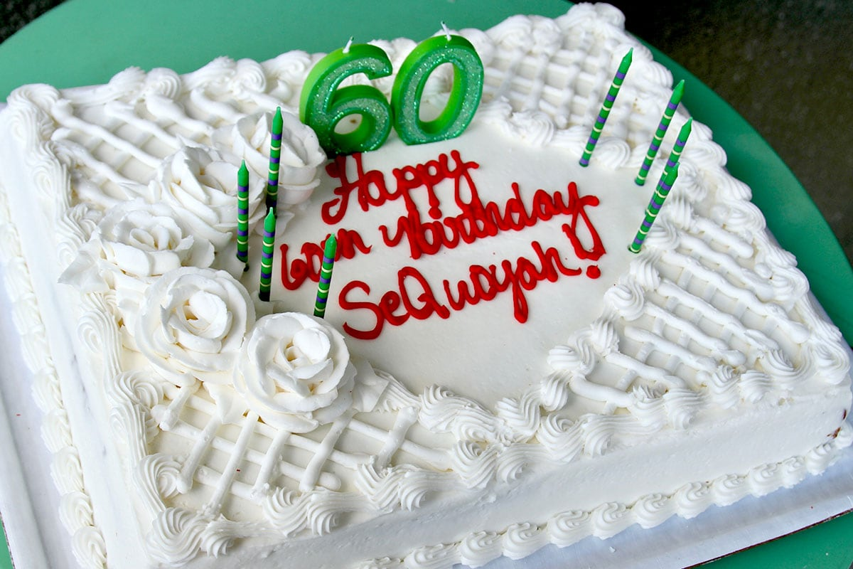 Sequoyah School 60th Celebration Food Drinks Cake IMG 4629 Cc